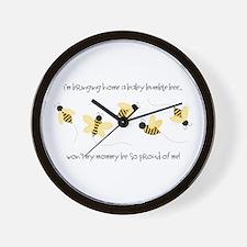 Baby Bumble Bee Wall Clock