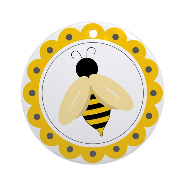 Bumble Bee Circle Ornament Round By Concord21