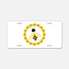 Bumble Bee Circle Aluminum License Plate