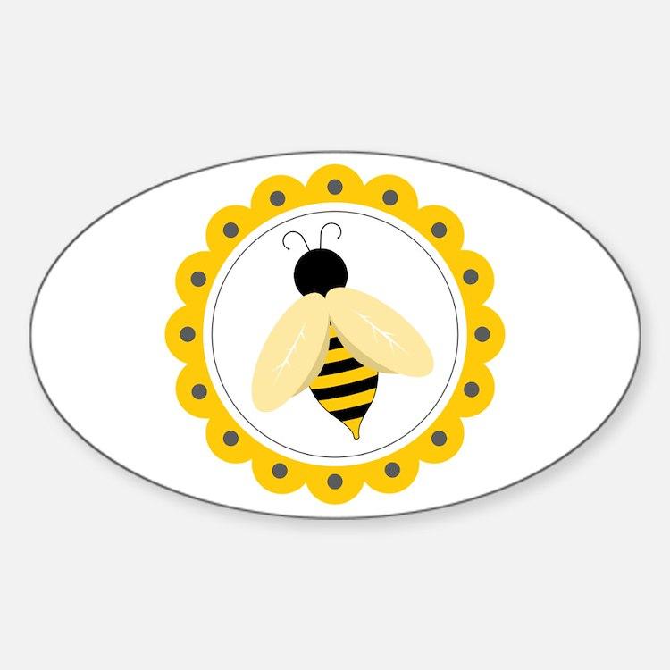Bumble Bee Circle Decal