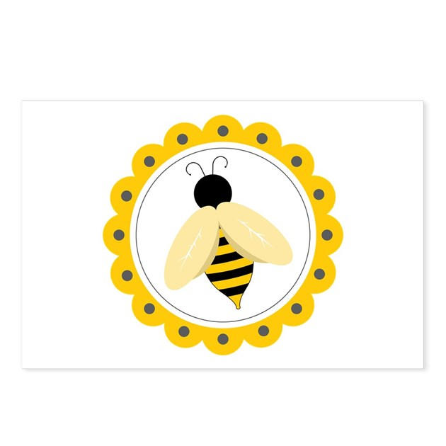 Bumble Bee Circle Postcards Package Of 8 By Concord21