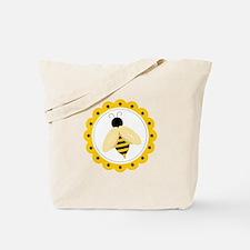 Bumble Bee Circle Tote Bag