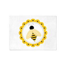 Bumble Bee Circle 5'x7'Area Rug