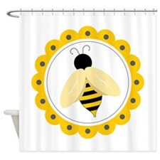 Bumble Bee Circle Shower Curtain