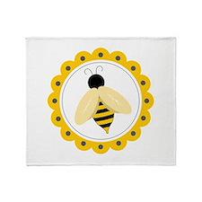 Bumble Bee Circle Throw Blanket