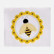 Bumble Bee Circle Throw Blanket