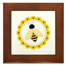 Bumble Bee Circle Framed Tile