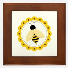 Bumble Bee Circle Framed Tile