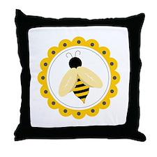 Bumble Bee Circle Throw Pillow