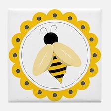 Bumble Bee Circle Tile Coaster