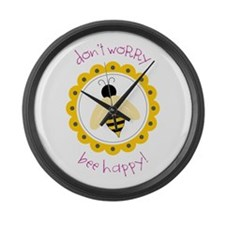Don't Worry Large Wall Clock