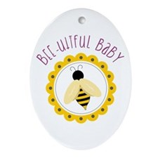 Bee-utiful Baby Ornament (Oval)