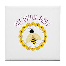 Bee-utiful Baby Tile Coaster
