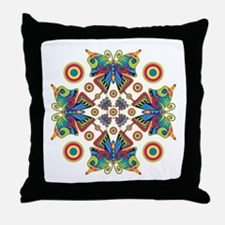 Hypnotic Butterfly Throw Pillow