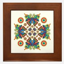 Hypnotic Butterfly Framed Tile