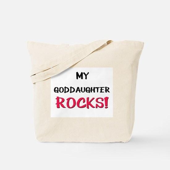 My GODDAUGHTER ROCKS! Tote Bag