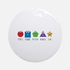 Learning Shapes Ornament (Round)