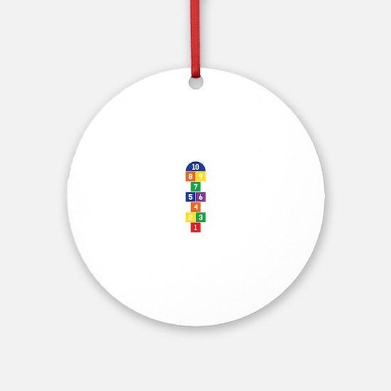 Hopscotch Game Ornament (Round)