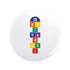"Hopscotch Game 3.5"" Button"