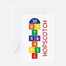 Hopscotch Play Greeting Cards