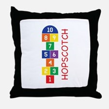 Hopscotch Play Throw Pillow