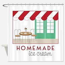 Home Made Ice Cream Shower Curtain