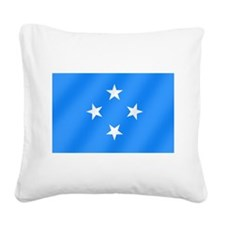 Flag of Micronesia Square Canvas Pillow