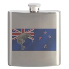 New Zealand Kiwi Flag Flask