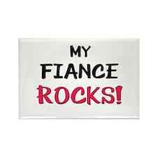 My FIANCE ROCKS! Rectangle Magnet
