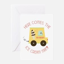 Here Comes The Ice Cream Man! Greeting Cards