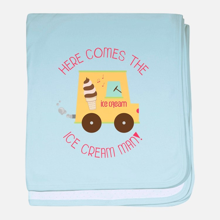 Here Comes The Ice Cream Man! baby blanket