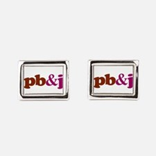 pb and j Rectangular Cufflinks