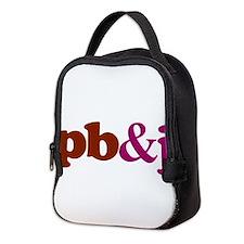 pb and j Neoprene Lunch Bag