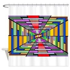 Abstract Depth Shower Curtain