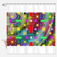 Abstract Modern Shower Curtain