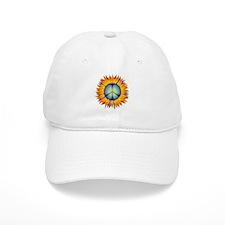 Cute Flower peace sign Baseball Cap