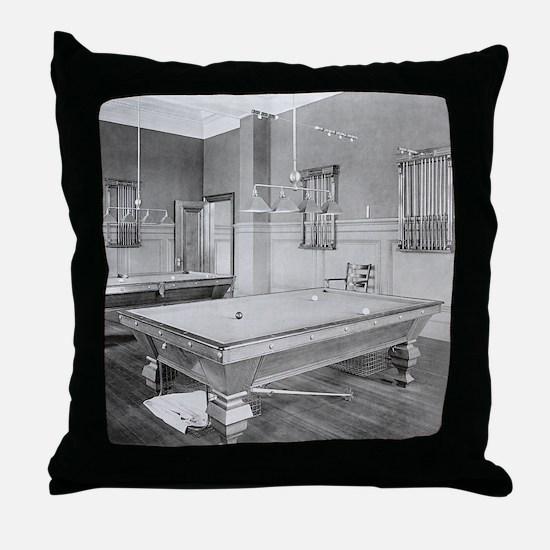 Cute Vintage billiard Throw Pillow