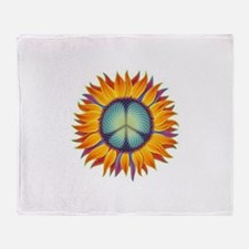 Funny Peace Throw Blanket