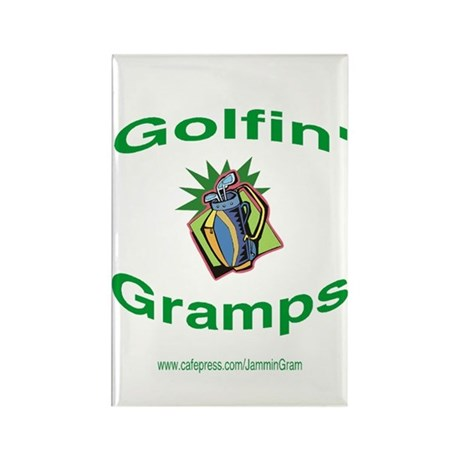 Golfin' Gramps Rectangle Magnet