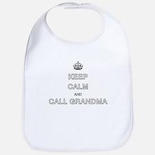 Keep Calm and Call Grandma Bib