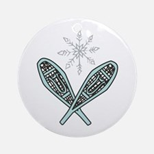 Snowshoes Ornament (Round)