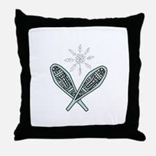 Snowshoes Throw Pillow
