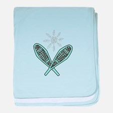 Snowshoes baby blanket