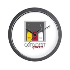 Condiment Queen Wall Clock
