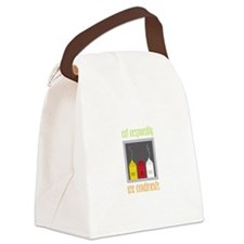 Eat Responsibly Canvas Lunch Bag