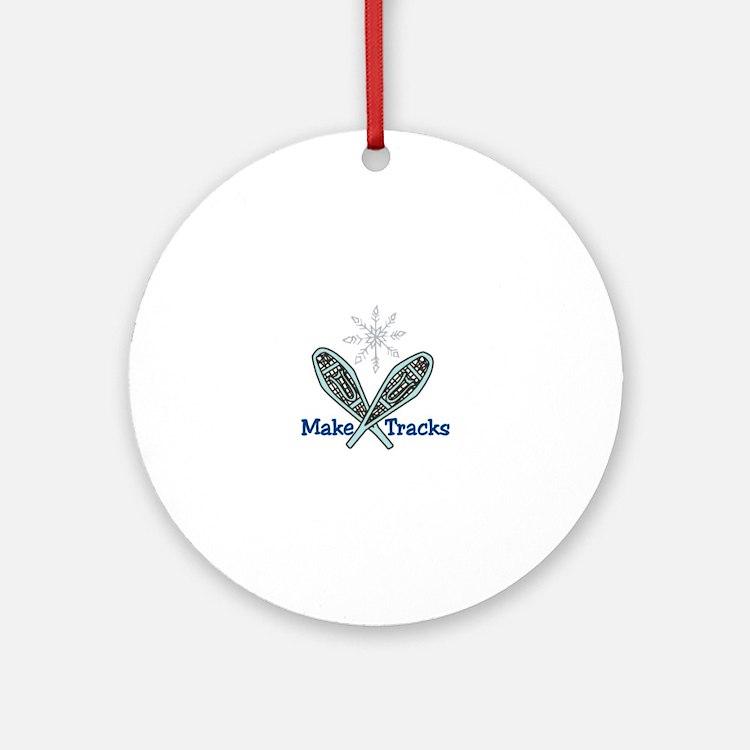 Make Tracks Ornament (Round)