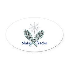 Make Tracks Oval Car Magnet
