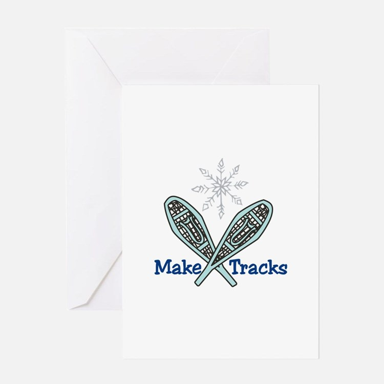 Make Tracks Greeting Cards