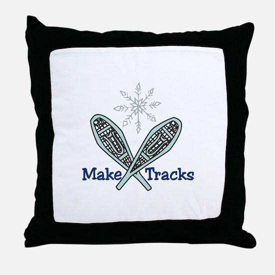 Make Tracks Throw Pillow