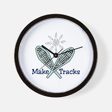 Make Tracks Wall Clock